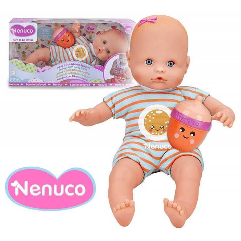 Muñeca Nenuco con Biberon Sonajero - Famosa - 35 cms