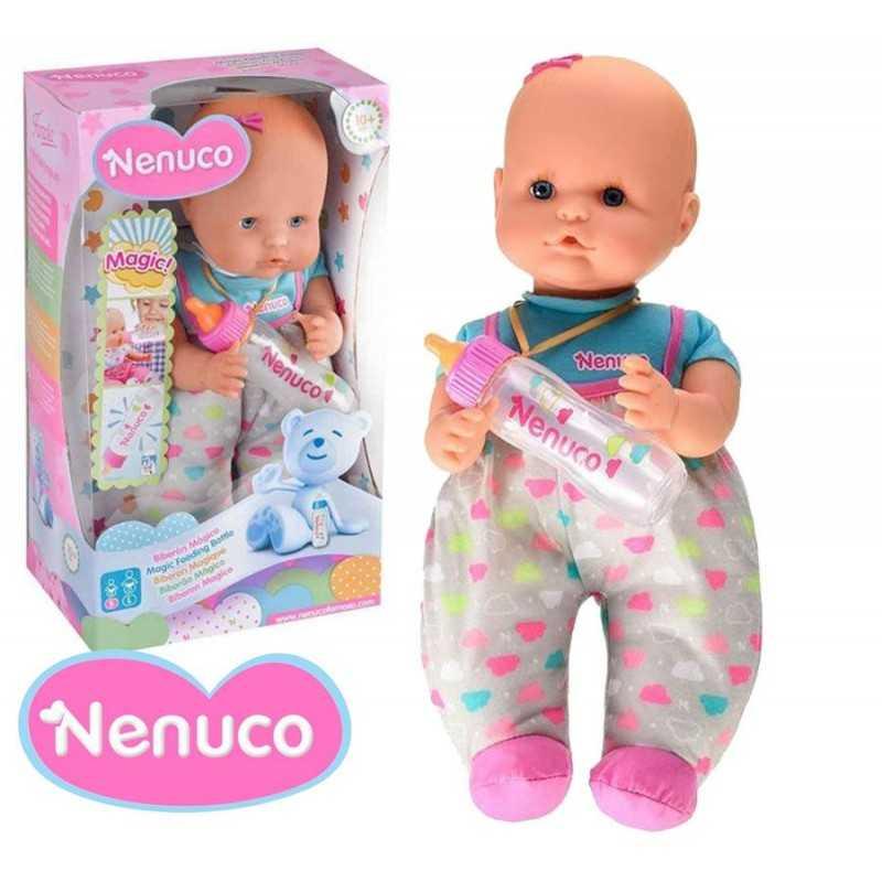 Muñeca Nenuco Con Biberón Mágico - Pijama Blanco - 35 cms