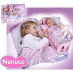 Muñeca Nenuco Cunita Duerme Conmigo - 35 cms