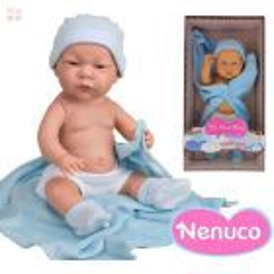 Muñeca My Real Baby by Nenuco - Mi Primer Bebe Deluxe - Niño - Celeste - 42 cms