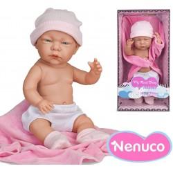 Muñeca My Real Baby by Nenuco - Mi Primer Bebe Deluxe - Nena - Rosa - 42 cms