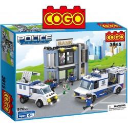 Set de Policias y Ladrones - Juego de Construcción - Cogo Blocks - 570 piezas