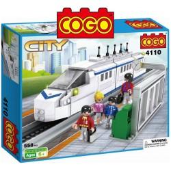 Tren Bala - Juego de Construcción - Cogo Blocks - 558 piezas