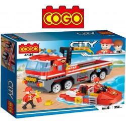 Camion de Bomberos - Juego de Construcción - Cogo Blocks