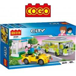 Estacion de Bus - Juego de Construcción - Cogo Blocks - 423 piezas