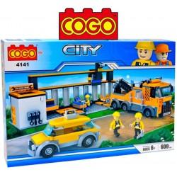 Estacion de Auxilio - Juego de Construcción - Cogo Blocks - 609 piezas