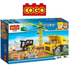 Maquinaria de Construccion - Juego de Construcción - Cogo Blocks - 804 piezas