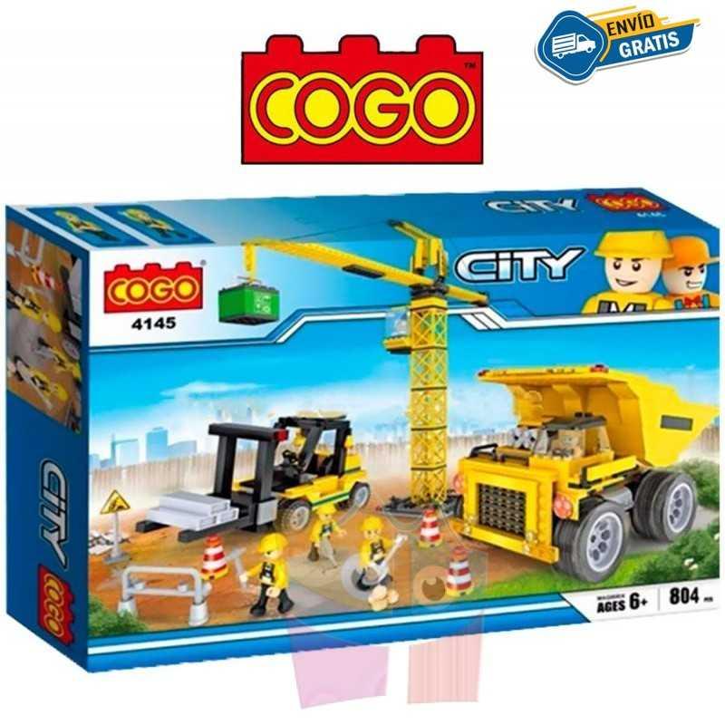 Maquinaria de Construccion - Juego de Construcción - Cogo Blocks