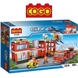 Estacion de Bomberos - Juego de Construcción - Cogo Blocks - 833 piezas