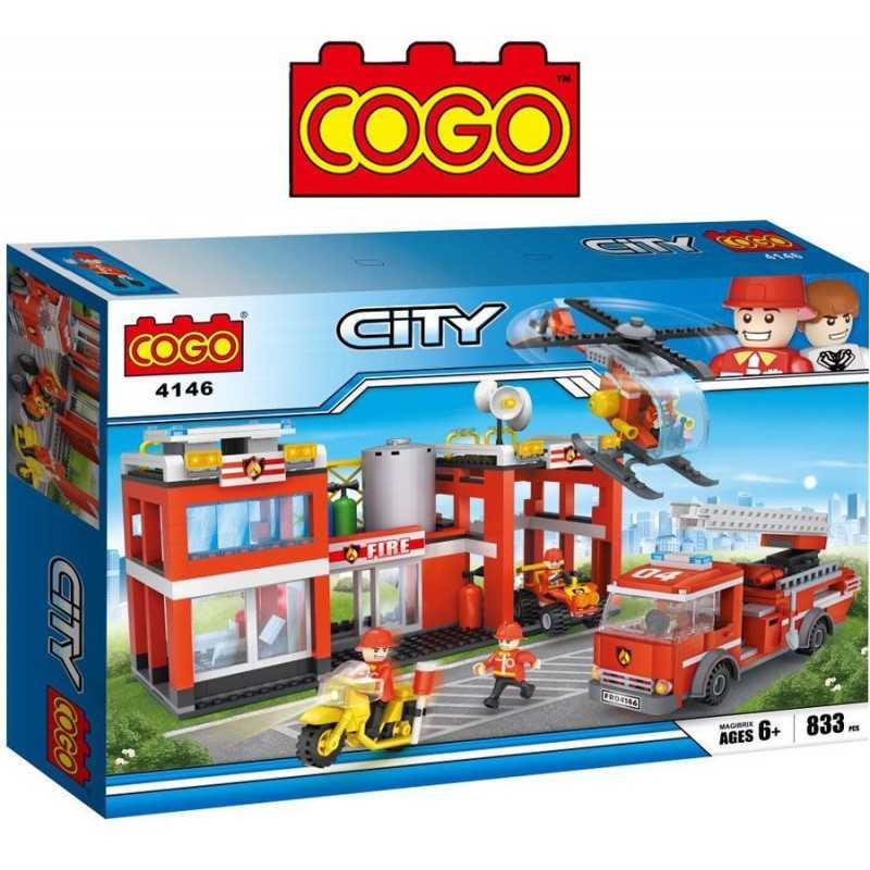 Estacion de Bomberos - Juego de Construcción - Cogo Blocks