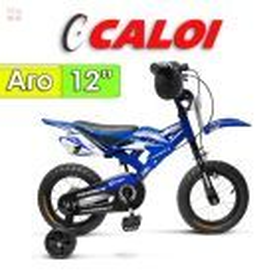 """Bici Moto Aro 12"""" - Caloi - Azul"""