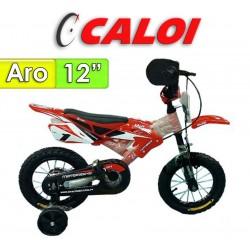 "Bici Moto Aro 12"" - Caloi - Rojo"