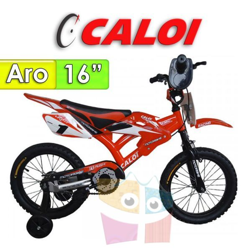"Bici Moto Aro 16"" - Caloi - Rojo"