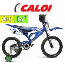 """Bici Moto Aro 16"""" - Caloi - Azul"""