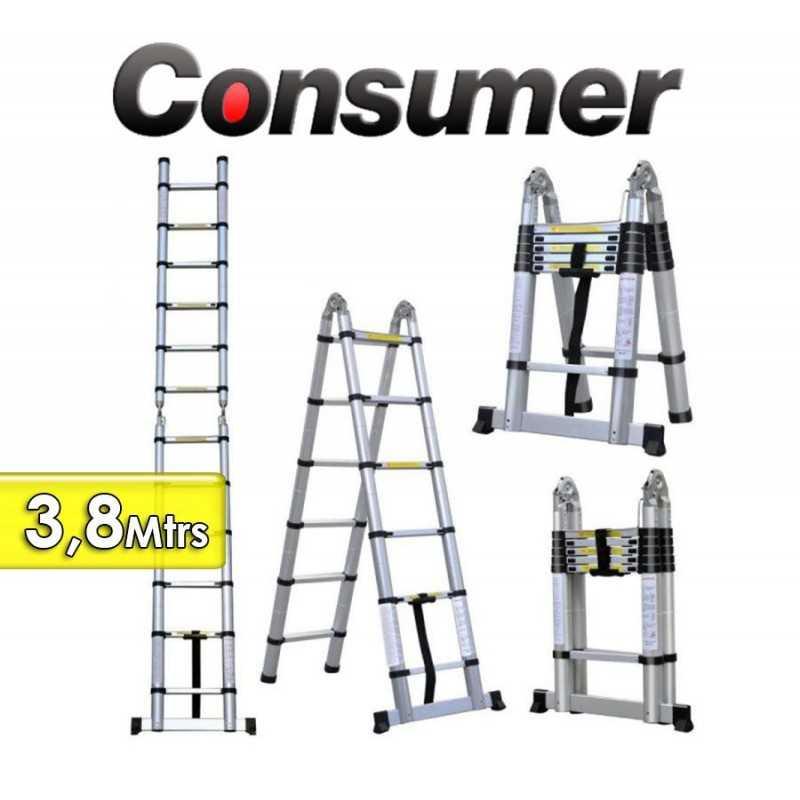 Escalera Telescopica de 3,8 Mtrs - Consumer -  58