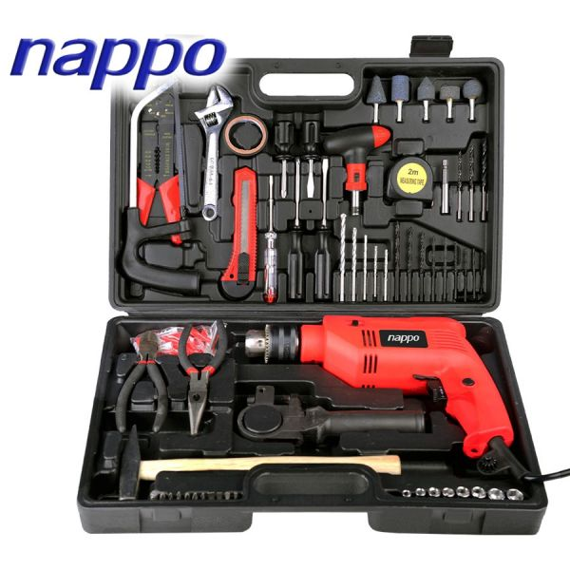 Kit de Herramientas 120 Piezas con Taladro Electrico - Nappo - NHK-008