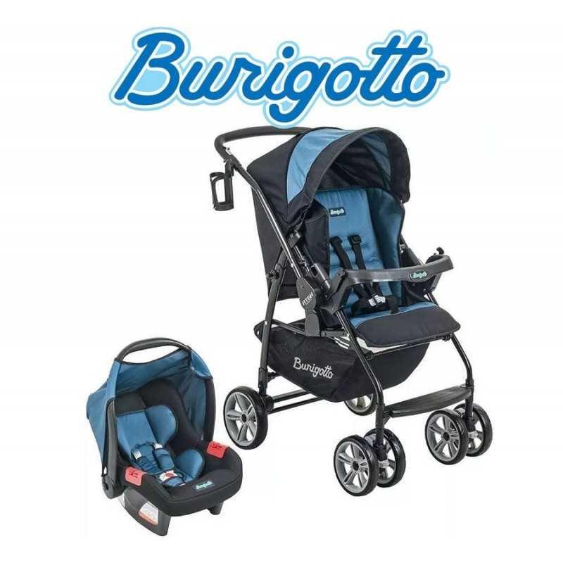 Carrito de bebé + Baby Seat - Burigotto - AT6 Touring Evolution Azul IXCJ4015