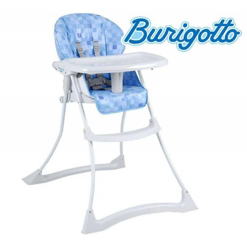 Sillita de alimentación para bebé - Burigotto - Papa y Soneca Cubes Azul IXCR3047GL83