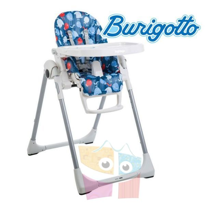 Sillita de alimentación para bebé Prima Papa Passarinhos Azul - Burigotto - IXCR6006GL42