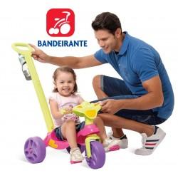Triciclo Kid Cross Paseo Rosa - Bandeirante - 636