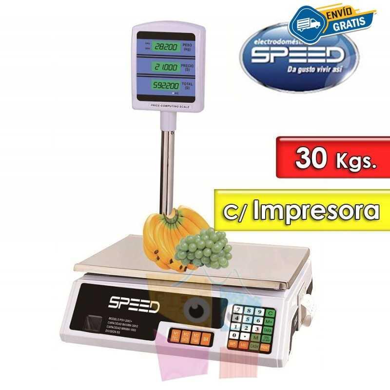 Balanza Electronica 30 Kg con columna e impresora - Speed - SB30KCICC