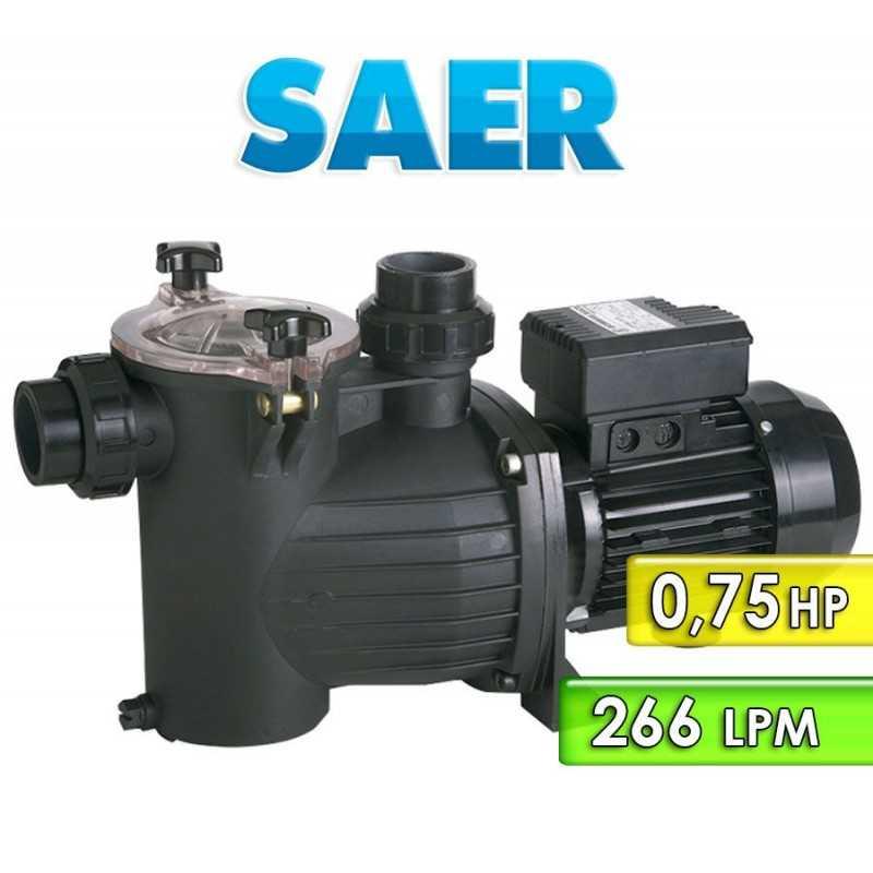 Motobomba Centrifuga para Piscinas 266 LPM y 0,75 HP - Saer - KPO 075M