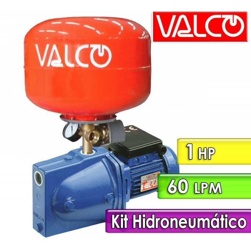 Motobomba Centrifuga 60 LPM y 1 HP con Tanque Hidroneumatico - Valco - JET 148-J