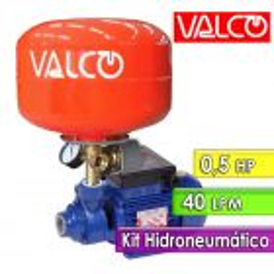 Motobomba a Turbina 40 LPM y 0,5 HP con Tanque Hidroneumatico - Valco - Casalinga 255 PL