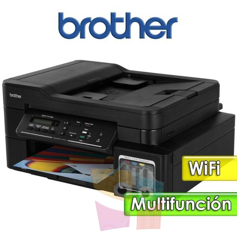 Impresora WiFi Multifuncion - Brother - DCP-T710W