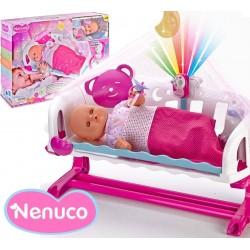 Muñeca Nenuco - Cunita Duerme Conmigo Con Baby Monitor - 35 cms