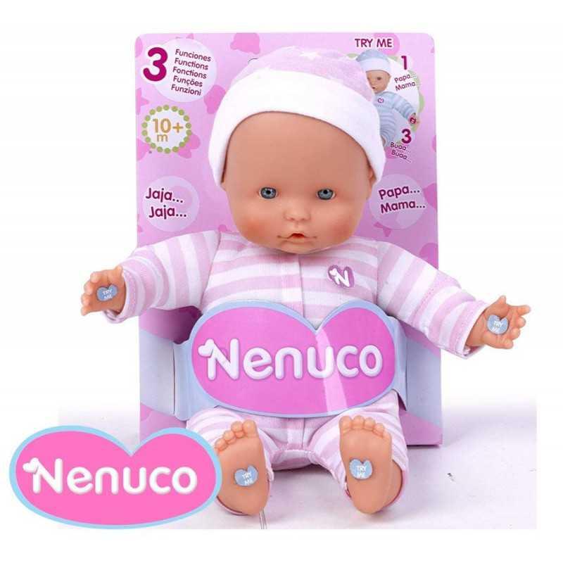 Muñeca Nenuco Blandito 3 Funciones - Pijama Turquesa - 25 cms