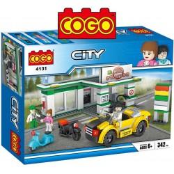 Estacion de Servicio - Juego de Construcción - Cogo Blocks - 335 piezas