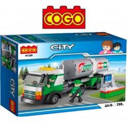 Camion de Combustible - Juego de Construcción - Cogo Blocks - 259 piezas