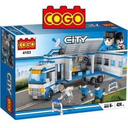 Camion de Policias - Juego de Construcción - Cogo Blocks - 424 piezas