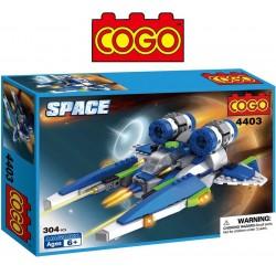 Nave Espacial Azul - Juego de Construcción - Cogo Blocks