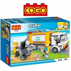 Camion Reciclador de Basura - Juego de Construcción - Cogo Blocks - 257 piezas