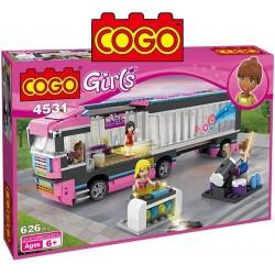 Camion de Gira Musical - Juego de Construcción - Cogo Blocks - 626 piezas