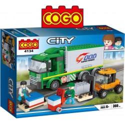 Montarga y Camion de Transporte - Juego de Construcción - Cogo Blocks - 360 piezas