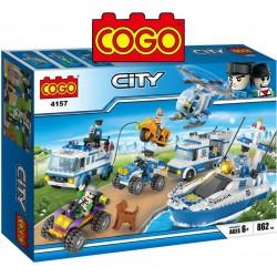 Set Policial Completo - Juego de Construcción - Cogo Blocks - 862 piezas