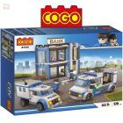 Asalto al Banco - Juego de Construcción - Cogo Blocks - 570 piezas