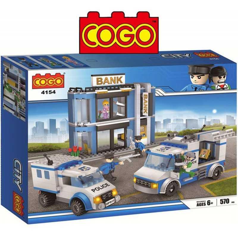 Asalto al Banco - Juego de Construcción - Cogo Blocks