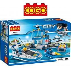Policia Naval - Juego de Construcción - Cogo Blocks - 644 piezas