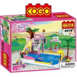 Dia de Piscina - Juego de Construcción - Cogo Blocks - 302 piezas