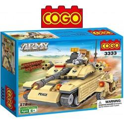 Tanque de Guerra - Juego de Construcción - Cogo Blocks - 278 piezas