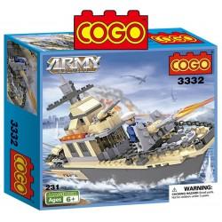 Barco Militar - Juego de Construcción - Cogo Blocks - 231 piezas