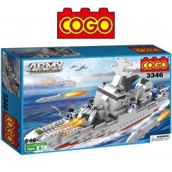 Barco de Guerra - Juego de Construcción - Cogo Blocks - 646 piezas