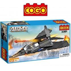 Avion de Batalla - Juego de Construcción - Cogo Blocks - 400 piezas
