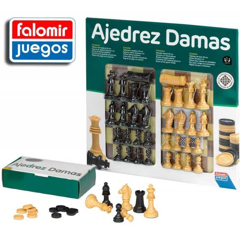 AJEDREZ y DAMAS 40 CM - Falomir