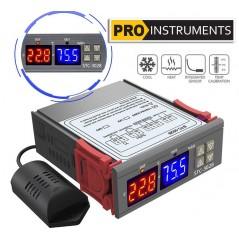 Termostato Controlador de Temperatura y Humedad 12V con Sonda Incluida - Pro Instruments