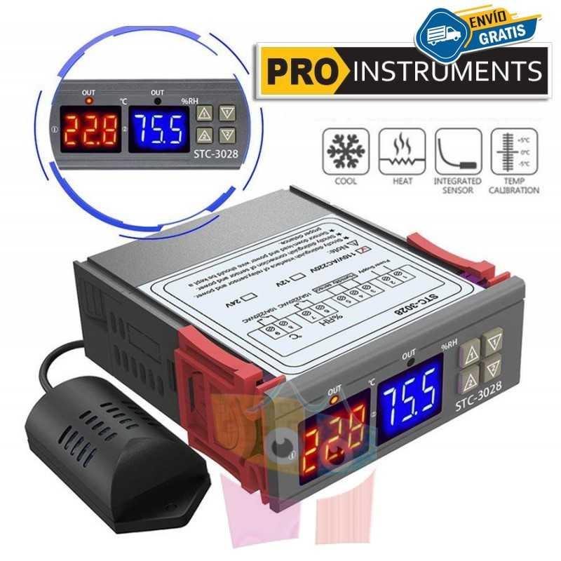 Controlador de Temperatura y Humedad 220V con Sonda Incluida - Pro Instruments